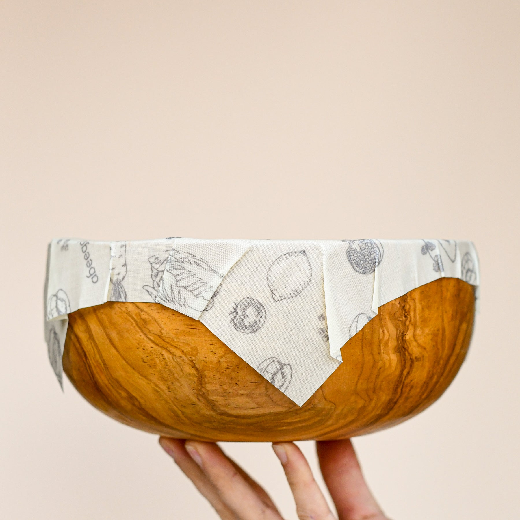 abeego beeswax wrap on bowl