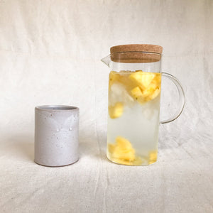 Glass cork carafe pitcher