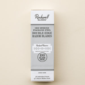 Rockwell double edge razor blades for zero waste razor blade