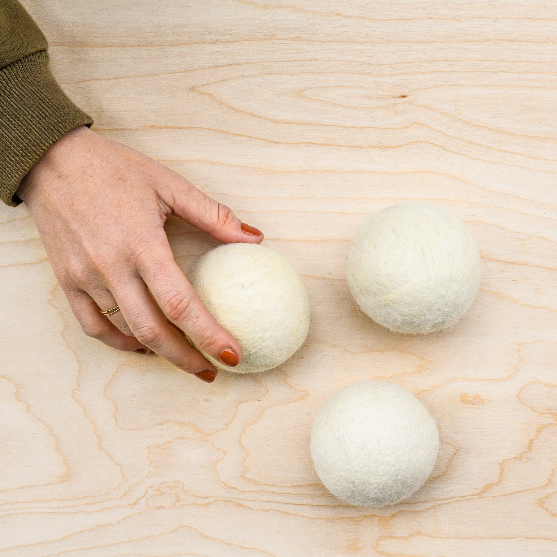 wool dryer balls from Echoview Fiber Mill