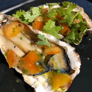 Julkitchen Grilled Hyōgo Oysters with Italian Vinegarette