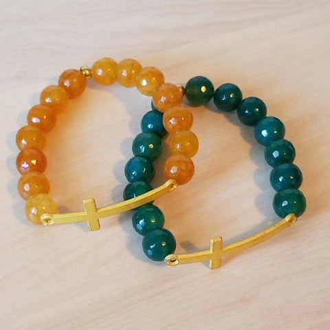 Stretch cross bracelets
