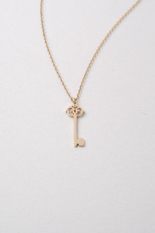 Emza Key Necklace in Gold