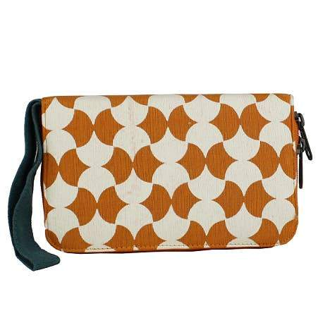 Medium Geometric Print Canvas Travel Wallet & Wristlet - Various Colors