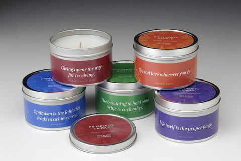 Holiday Series Quote 4 oz Tin Candles