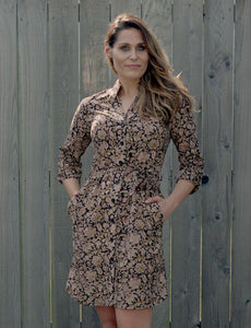 Paisley Button Up Dress