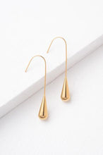 Load image into Gallery viewer, Tamara Gold Teardrop Dangle Earrings
