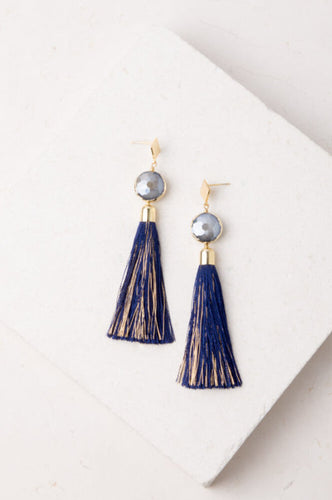 Julia Blue Tassel Earrings