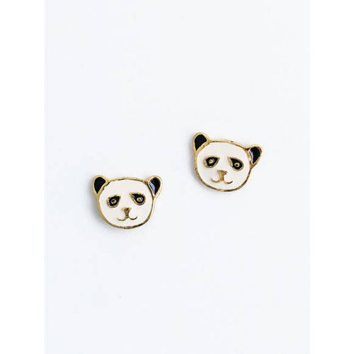 Panda Enamel Stud Earrings
