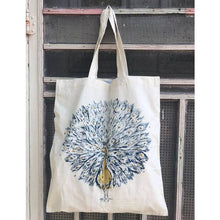Load image into Gallery viewer, Peacock Printed Tote Bag