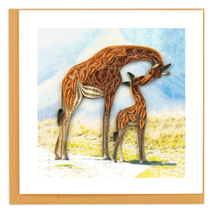 Giraffe & Baby Quilling Greeting Card ||  Mother's Day, New Baby, All Occasion