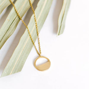Eclipse Brass Necklace