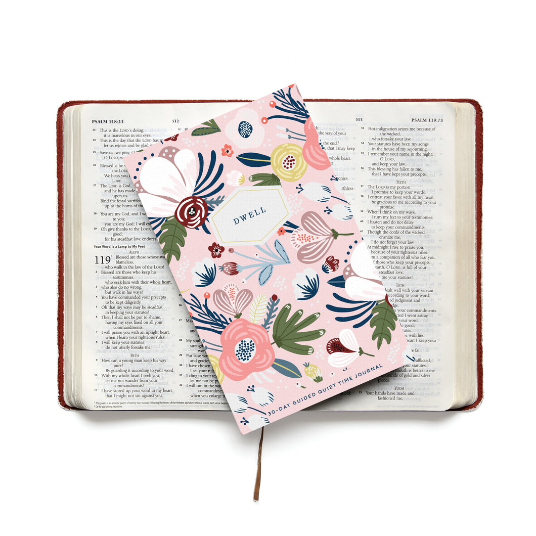 Dwell 30 Day Prayer Journal - Pink Posy