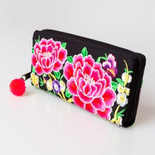 Load image into Gallery viewer, [Imperfect Pick] The Lotus Embroidered Zipper Wallet
