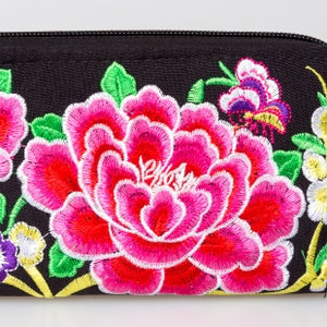 [Imperfect Pick] The Lotus Embroidered Zipper Wallet