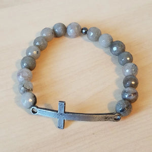 Cross Stone Stretch Bracelet