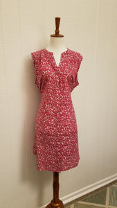 [Special Singles] Fuchsia Button Down Animal Print Dress by Mata Traders
