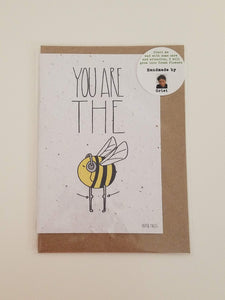"""You're the Bee's Knees"" Growing Paper Greeting Card 