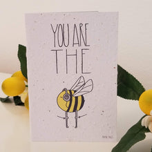 "Load image into Gallery viewer, ""You're the Bee's Knees"" Growing Paper Greeting Card 