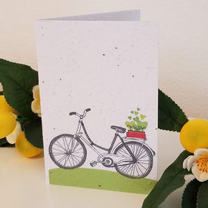 Bicycle Growing Paper Greeting Card || All Occasion