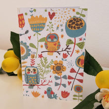 Load image into Gallery viewer, Owls and Flowers Growing Paper Greeting Card || All Occasion