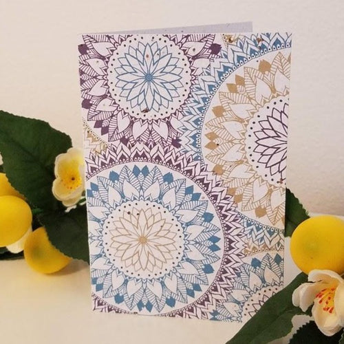 Floral Patterns Growing Paper Greeting Card || All Occasion
