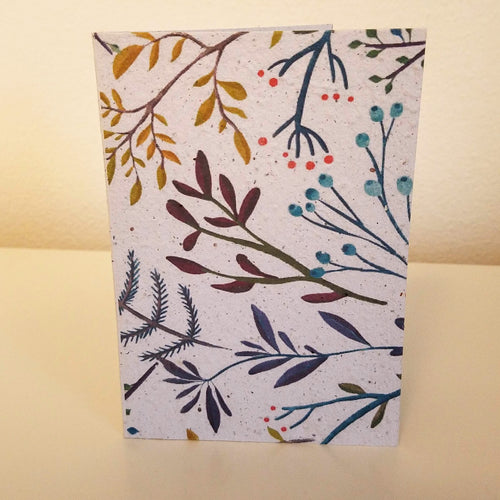 Elegant Branches Floral Patterns Growing Paper Greeting Card || All Occasion