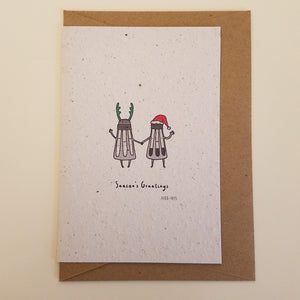 """Season's Greetings"" Funny Growing Paper Greeting Card 