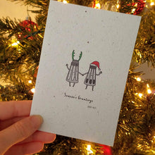 "Load image into Gallery viewer, ""Season's Greetings"" Funny Growing Paper Greeting Card 