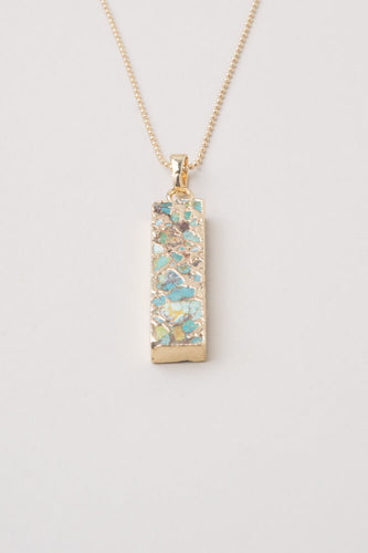 Sasha Turquoise Rectangle Pendant Necklace