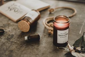 Amber Glass Soy Candle - Goods that Empower