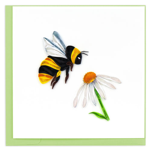 Bumble Bee Quilling Greeting Card ||  Spring, Nature, All Occasion