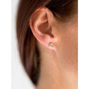 Swirl Post Wire Stud Earrings