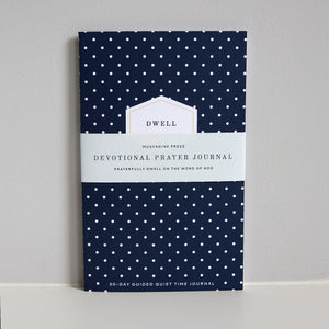 Dwell 30 Day Prayer Journal - Navy Dot