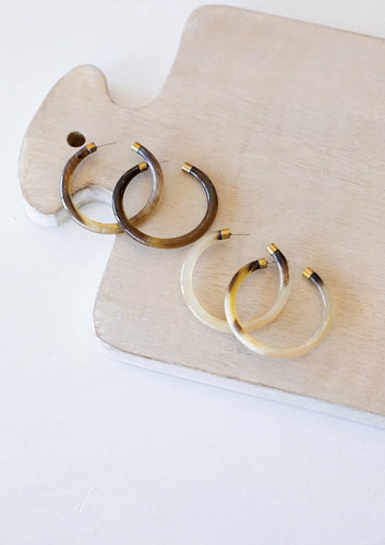 Classic Horn Hoop Earrings