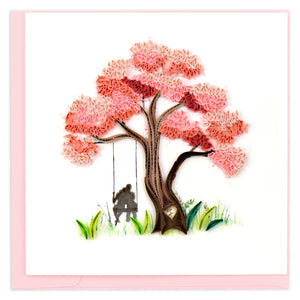 Blooming Love Tree Quilling Greeting Card || Love, Anniversary, Valentine's Day