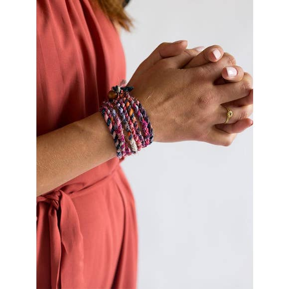 The Boho Twist - Multi-color Wrist & Hair Accessory