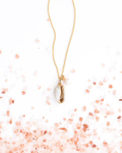 Delta Gold Dipped Shell Necklace