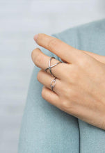Load image into Gallery viewer, Infinity Silver Adjustable Ring