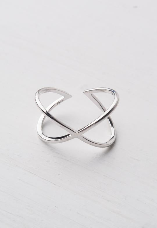 Infinity Silver Adjustable Ring