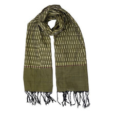 Load image into Gallery viewer, Olive Tassel Scarf