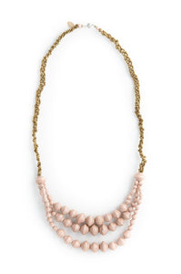 Adeck Beaded Necklace in Blush