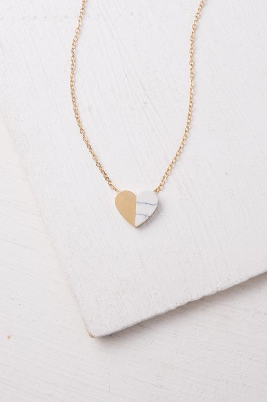 Alexis Gold Heart Necklace