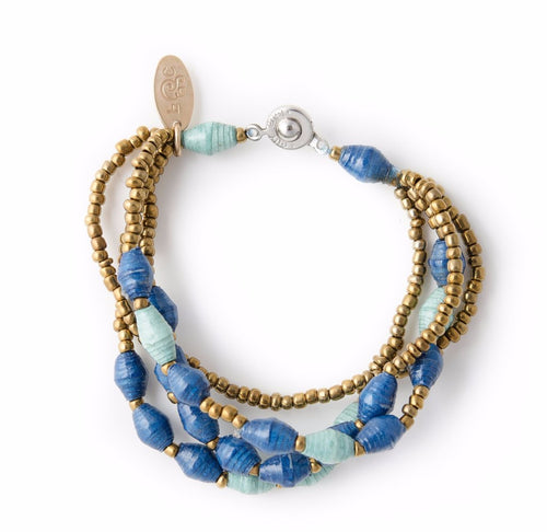 Amun Paper Bead Bracelet - Various Colors