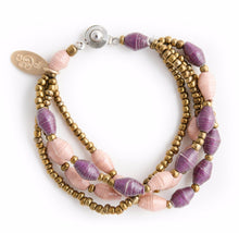 Load image into Gallery viewer, Amun Paper Bead Bracelet - Various Colors