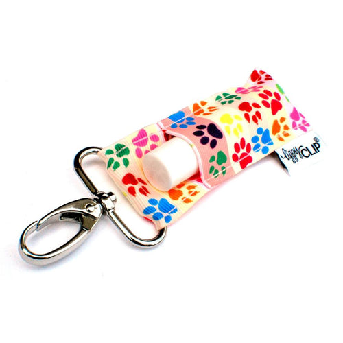 LippyClip® The Original Lip Balm Holder -  Colorful Paw Prints