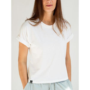 Favorite White T-shirt - Crew Neck & Rolled Sleeves