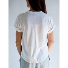 Load image into Gallery viewer, Favorite White T-shirt - Crew Neck & Rolled Sleeves