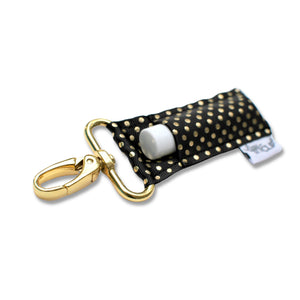 LippyClip® The Original Lip Balm Holder -  Black Gold Dots