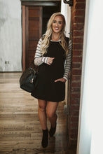 Load image into Gallery viewer, Black Jumper Dress